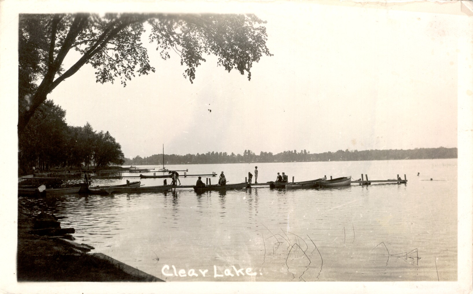 Clear lake historical postcards steuben county indiana for Clear lake